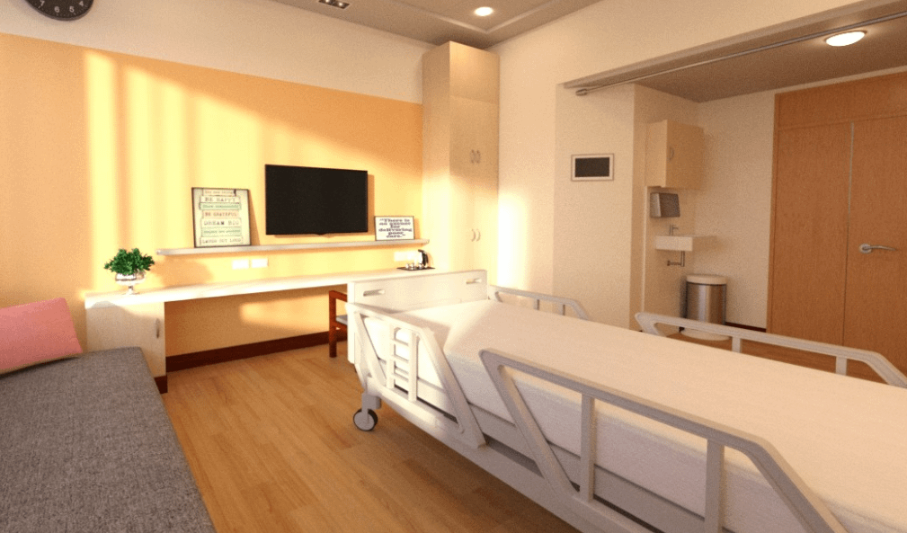daz hospital bedroom 3d model