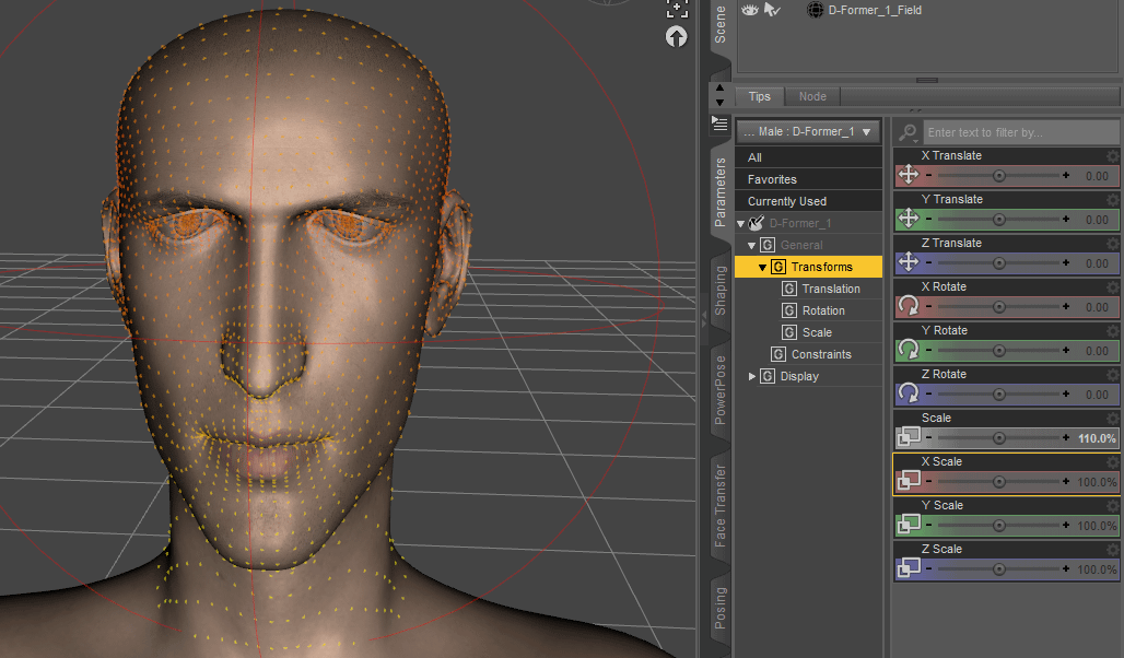 Daz3D Create Custom Morph with d former tool