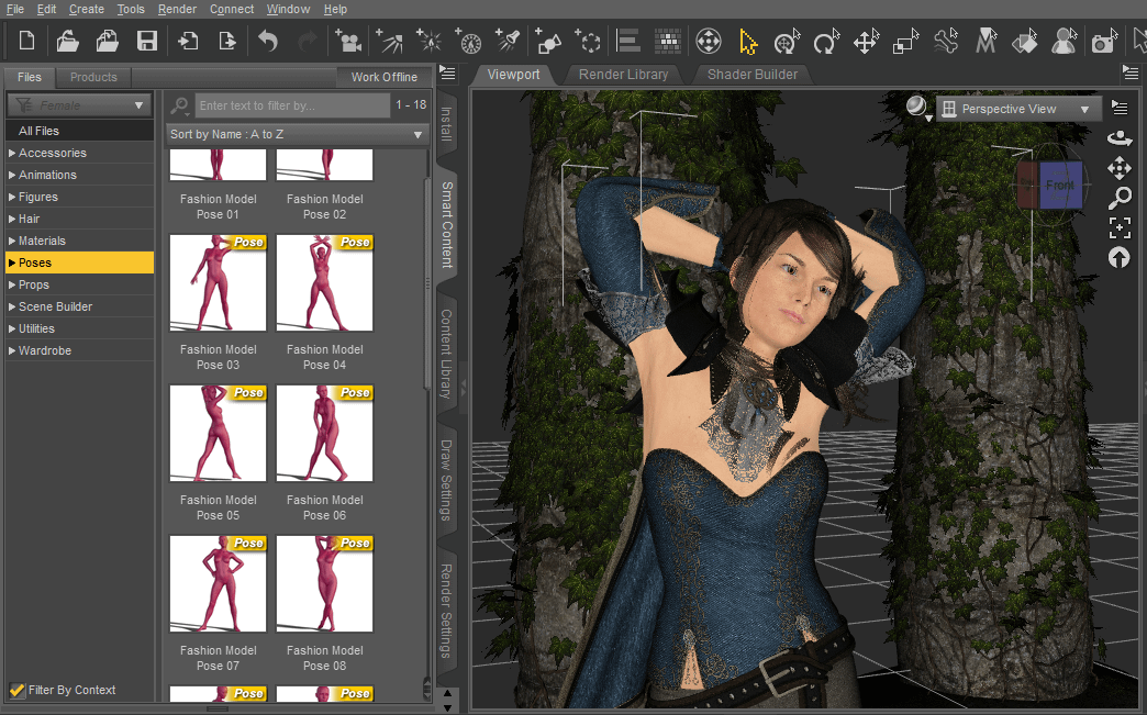 posing of a genesis figure in daz studio