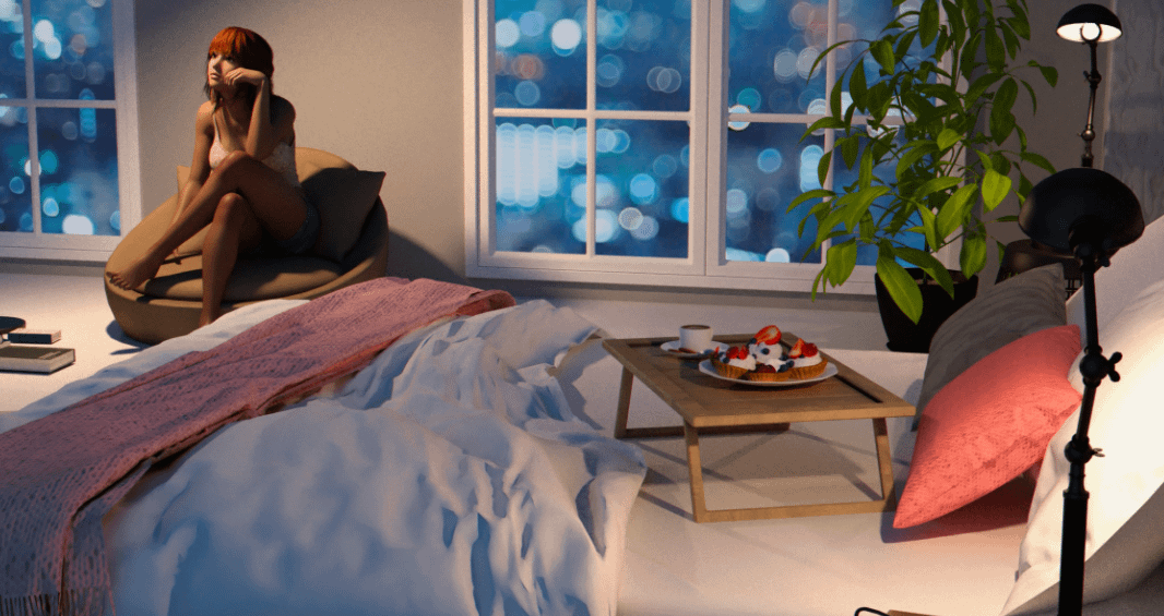 daz3d cozy bedroom 3d model