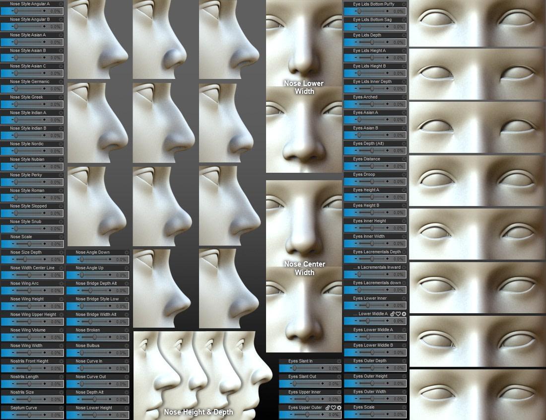 head and face morphs for daz studio gen 3