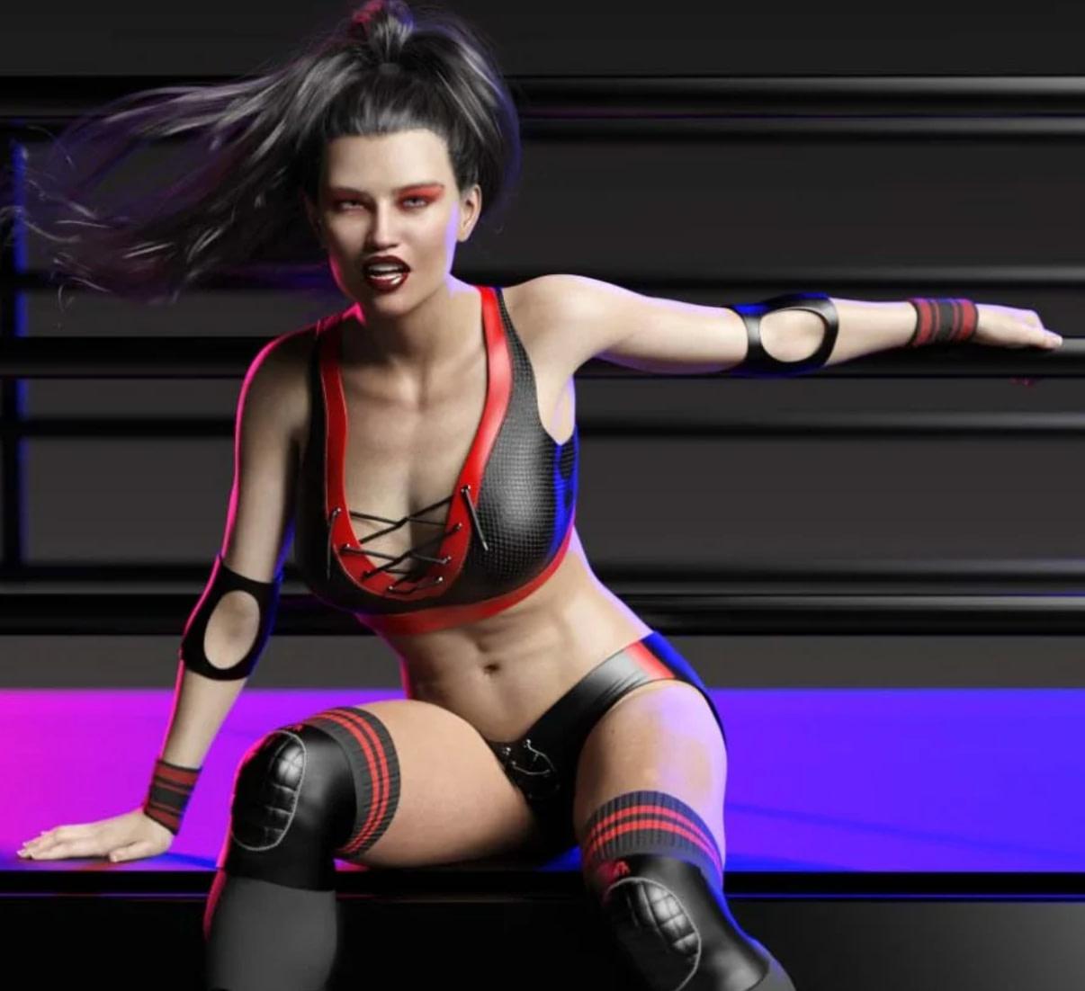 daz cb takedown wrestling clothes genesis 8 female