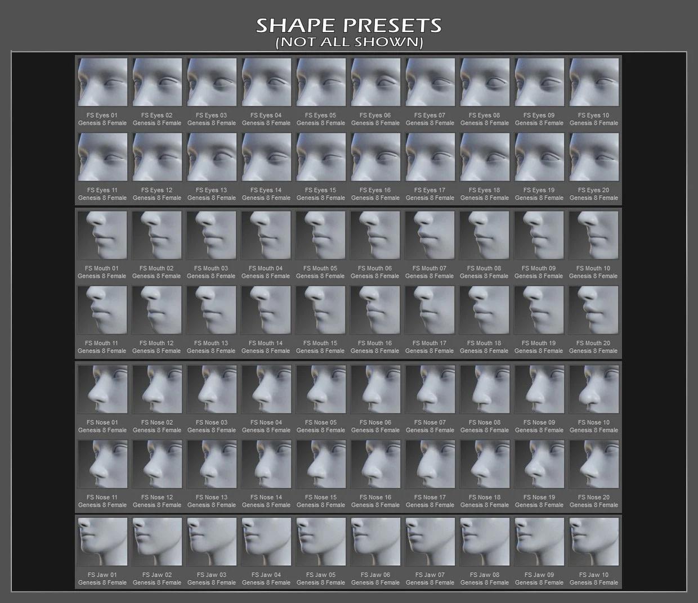 Face shapes for daz3d figures