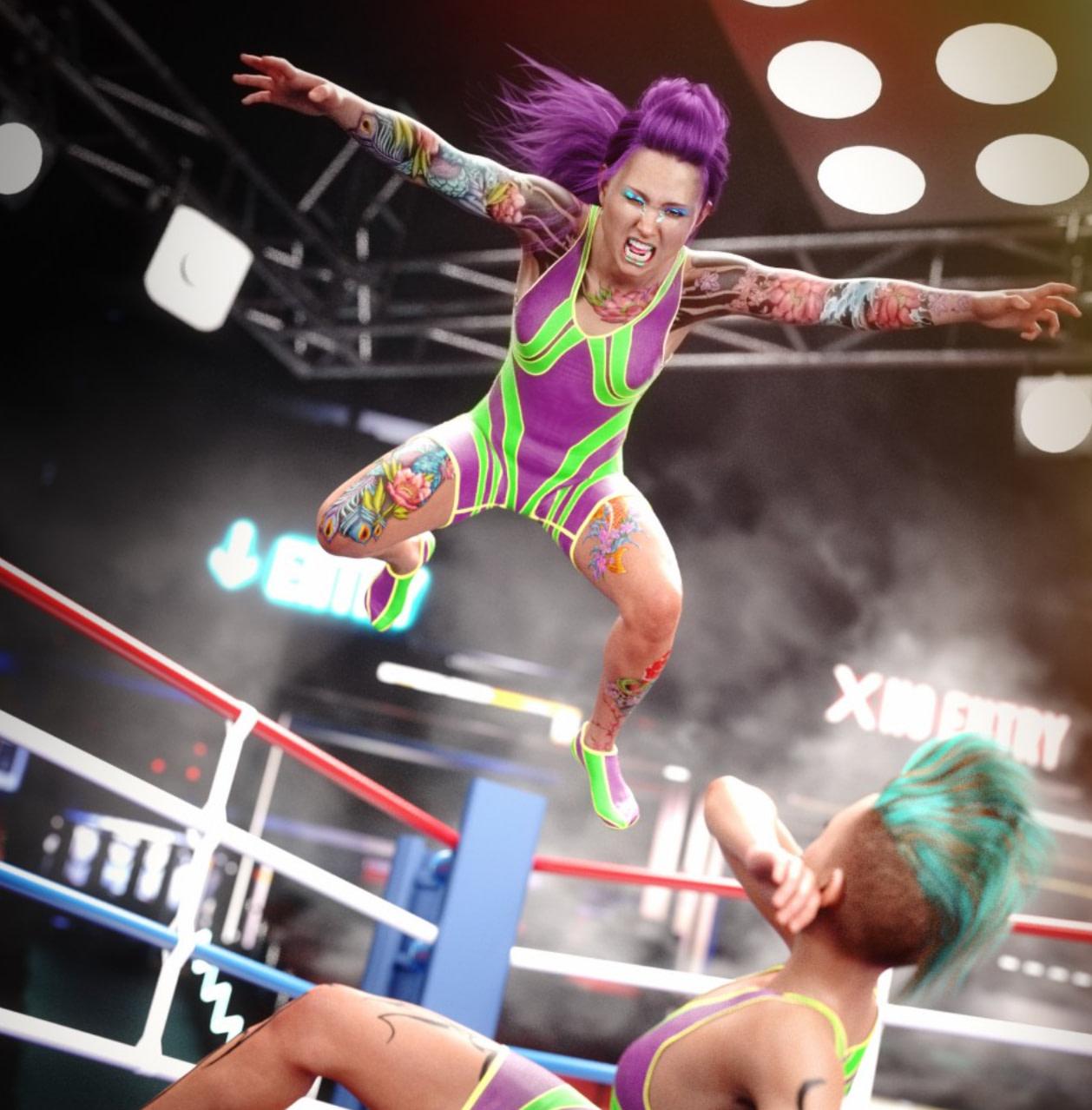 daz amateur wrestler outfit genesis female