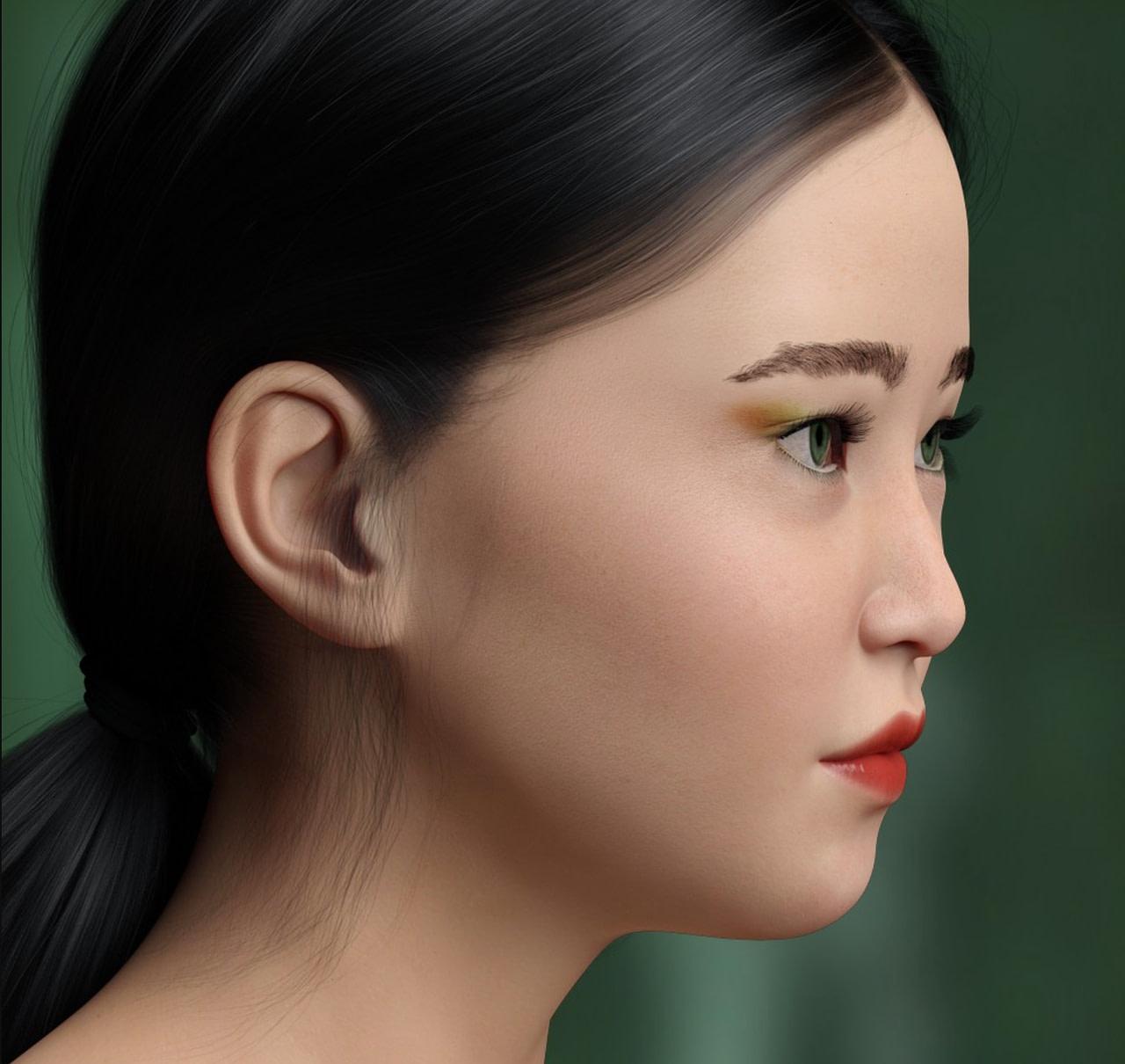 daz zhi ruo asian female model