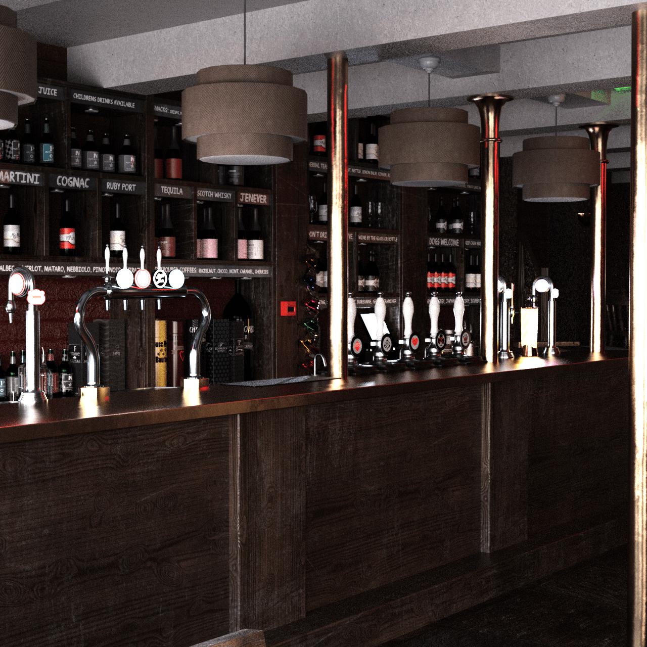 vintage bar 3d model