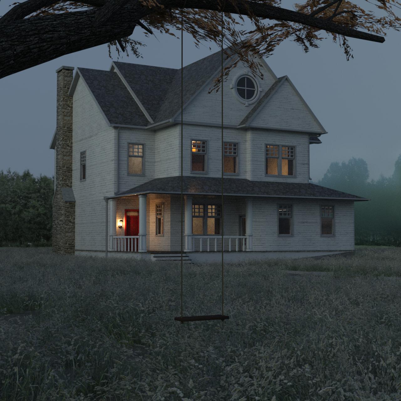 farmhouse 3d model