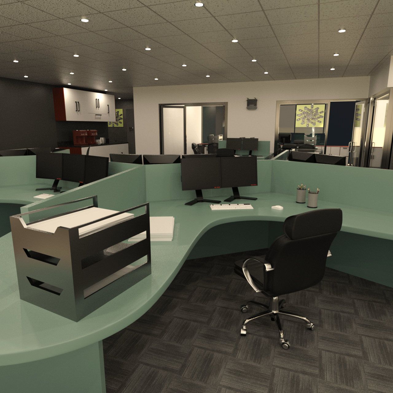 studio office 3d model