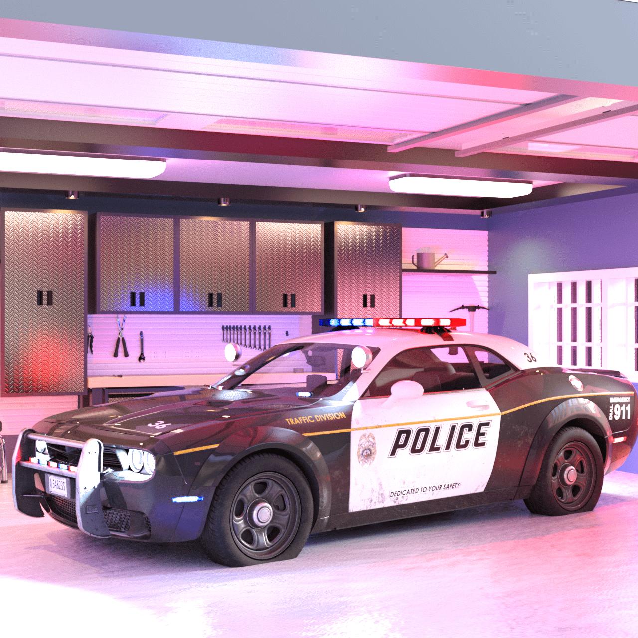 Police Car 3d asset