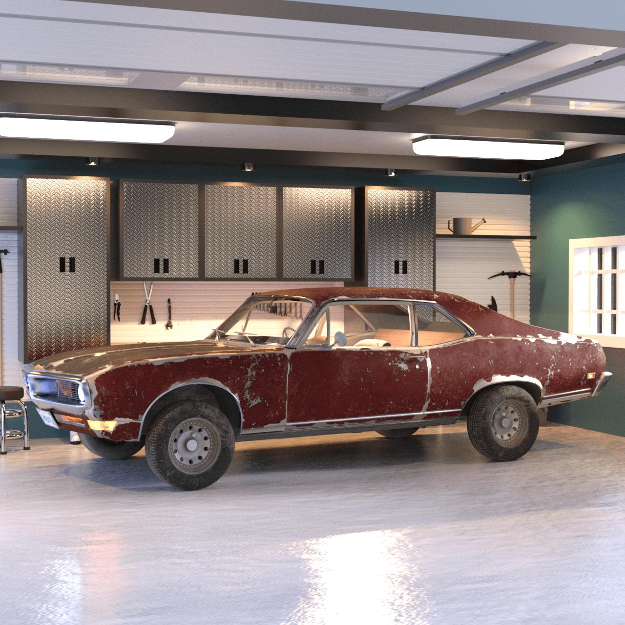 Retro 3d car model