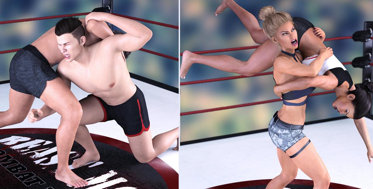 daz3d z combat ring wrestling poses