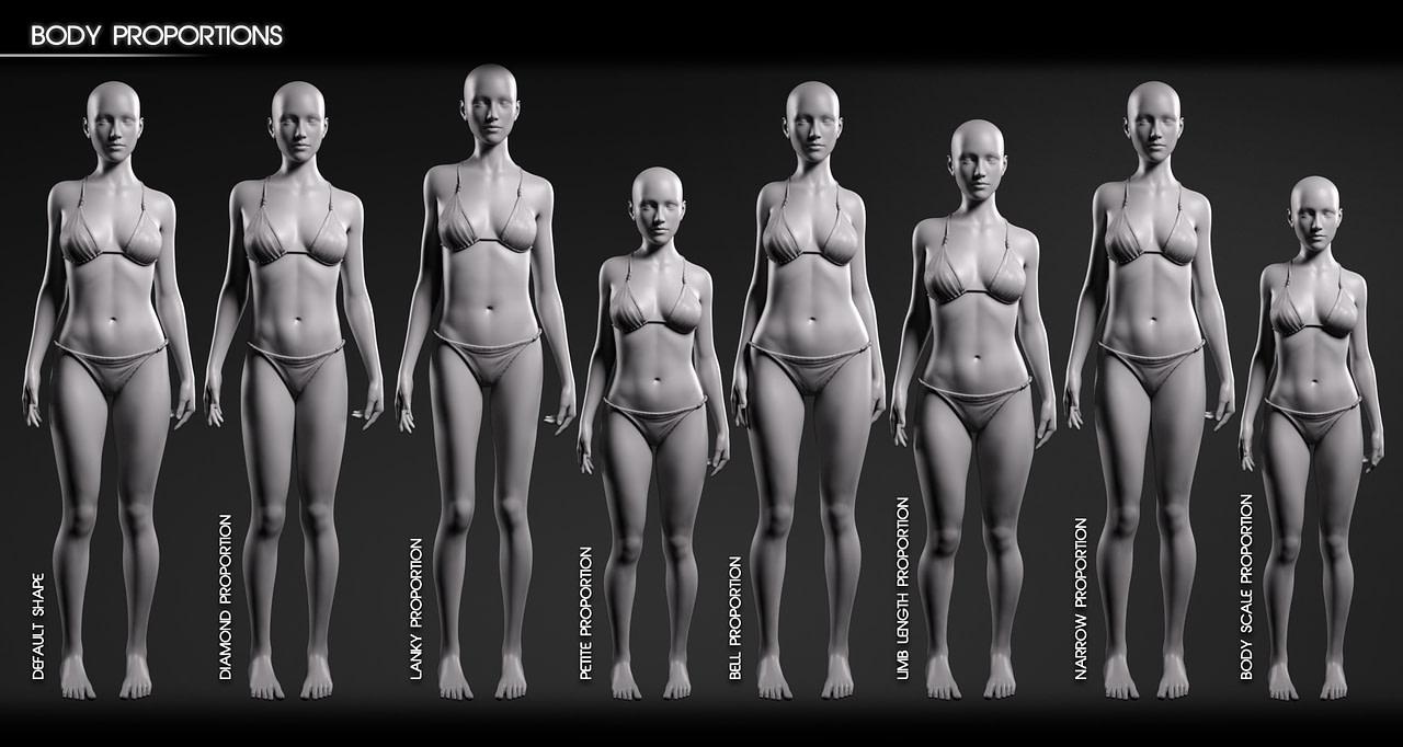 Body diversity examples for daz studio