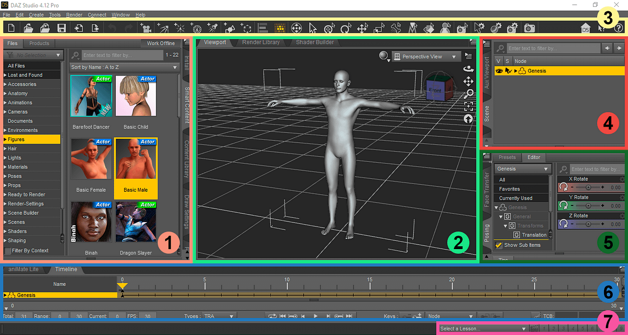 daz studio user interface overview