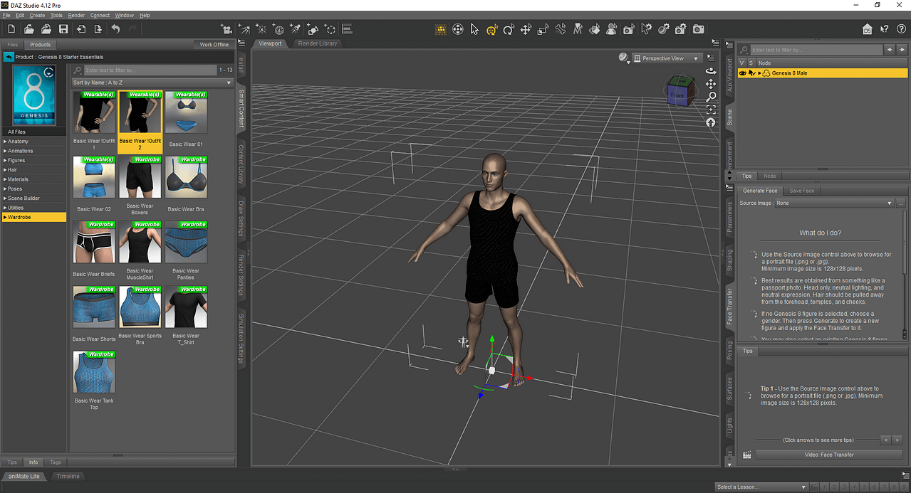 Daz3d how to add clothes to a character