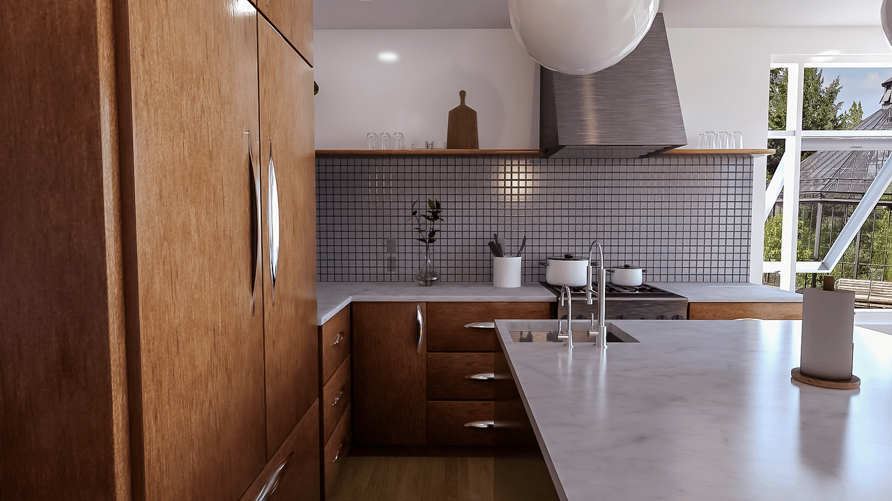 daz nostalgic kitchen product beautiful render without noise