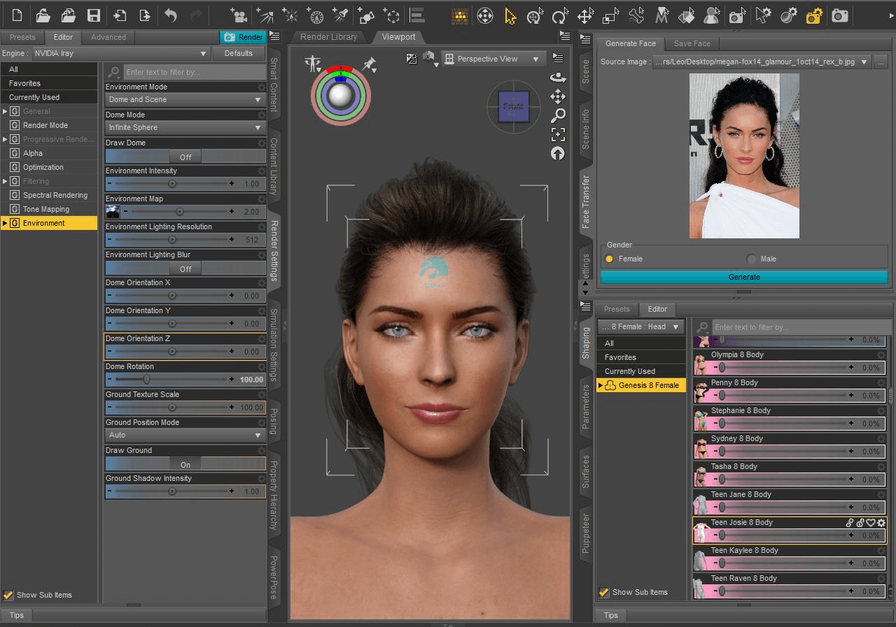 daz3d face transfer plugin
