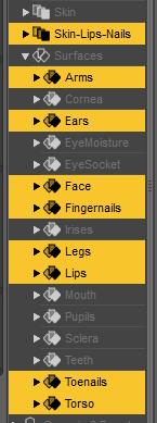 daz3d skin lips nails