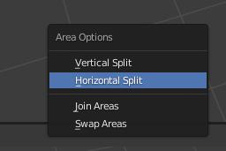 blender horizontal split