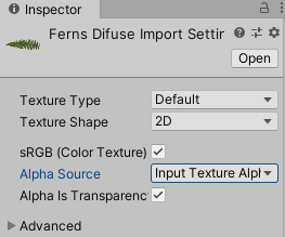 Changing the input texture alpha inside Unity3d