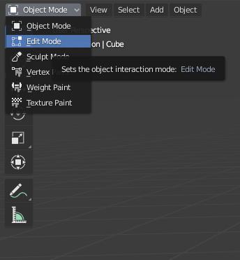 blender basics edit mode