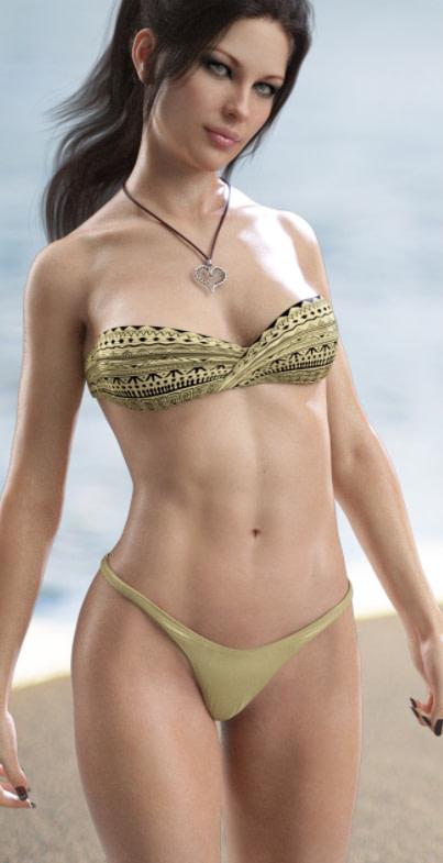 bohemian heart daz3d bikini