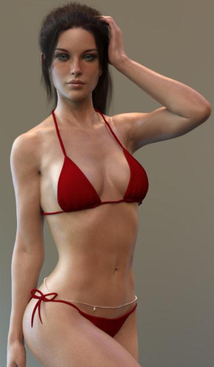 trendy simple bikini 3d clothes