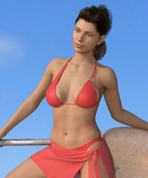 daz dforce realfit ring bikini 3d model