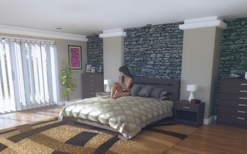 daz granite bedroom bundle 3d model