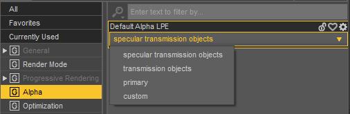 alpha render settings inside daz studio
