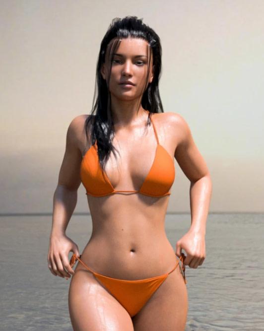 real fit string daz3d bikini