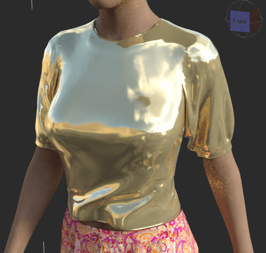 gold shader applied to daz clothes
