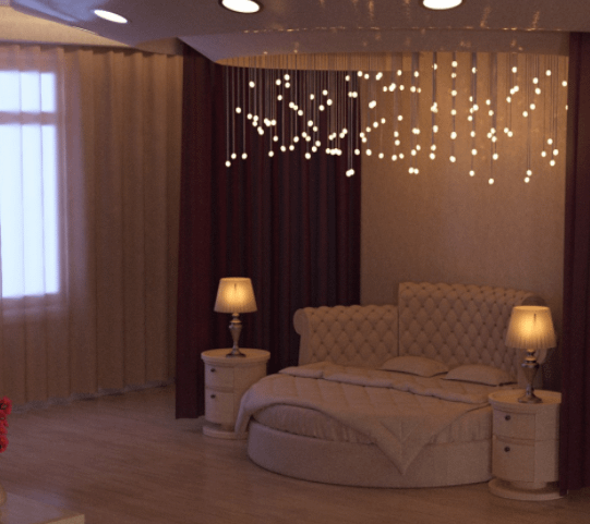 daz3d lavish bedroom 3d model