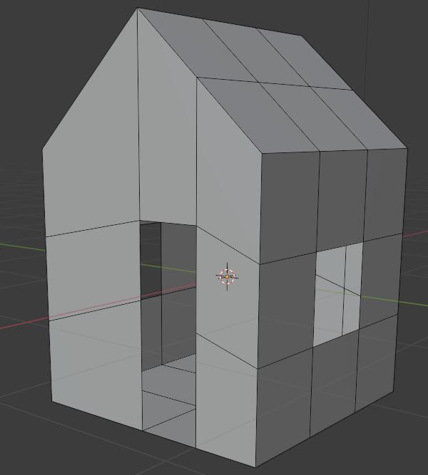 blender modeling 3d house