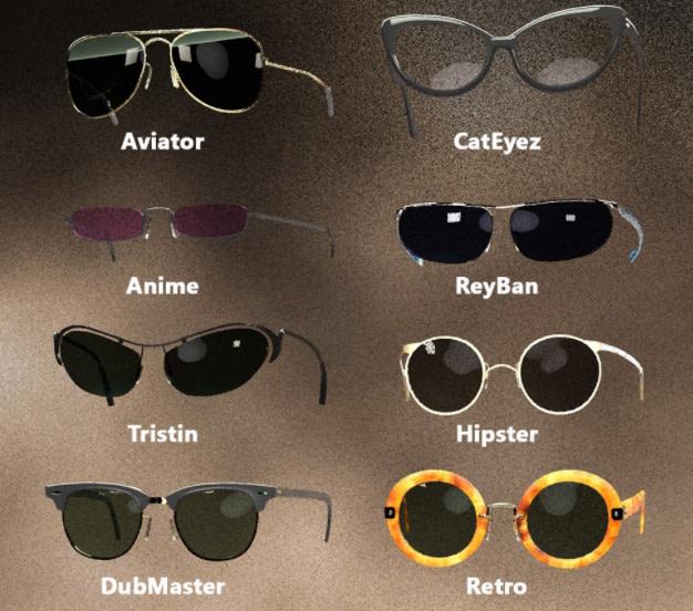 daz3d sunglasses genesis 8