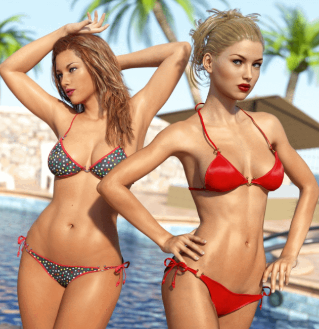 daz bikini models
