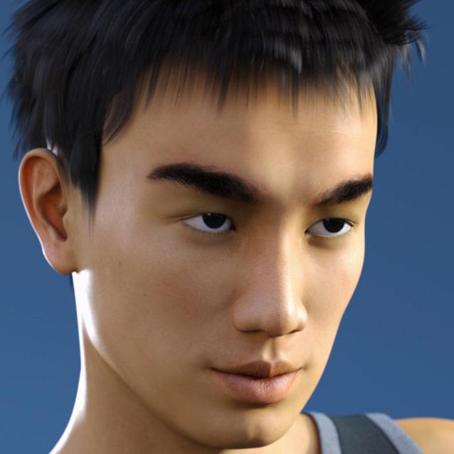 makaio daz3d male asian genesis