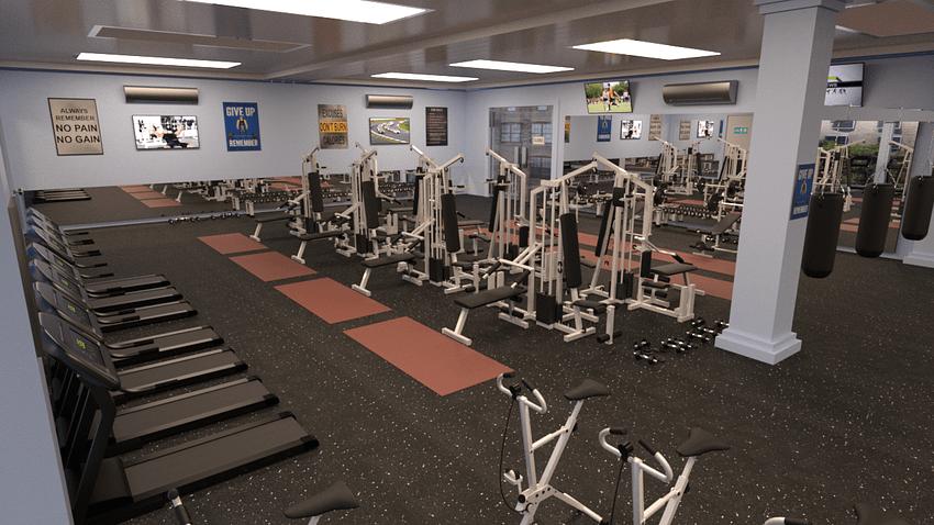 Fitness Studio 3d Model