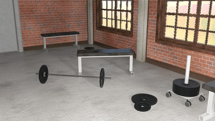Weight Training 3d Model Environment