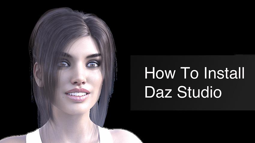 how to install daz studio