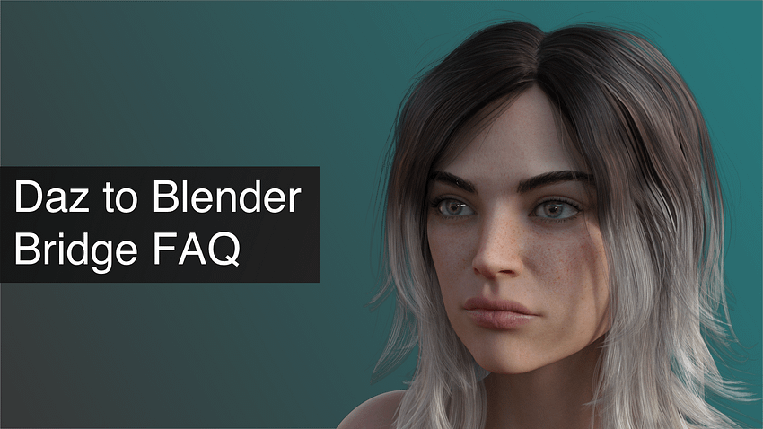 Daz to Blender Bridge: FAQ, Tips, Problems