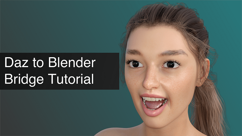 daz to blender bridge tutorial