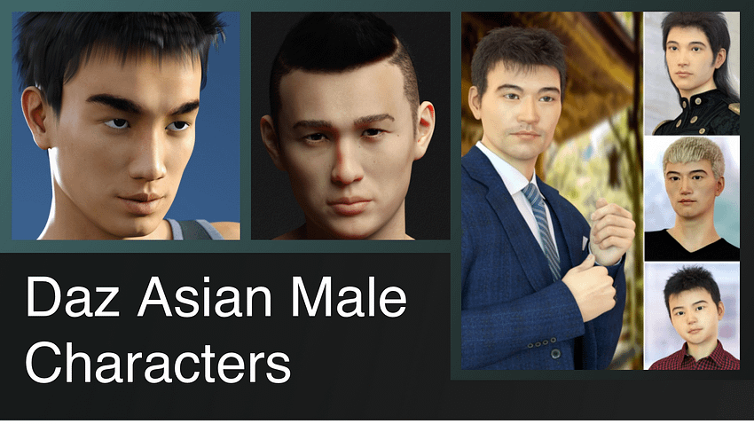 Top Daz3D Asian Male Characters