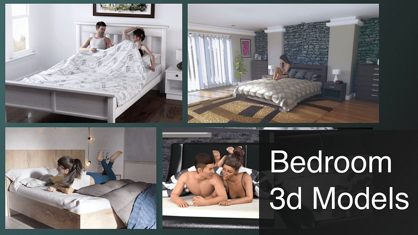 Top Daz3D Bedroom 3D Models