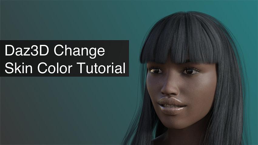 Daz3D Change Skin Color