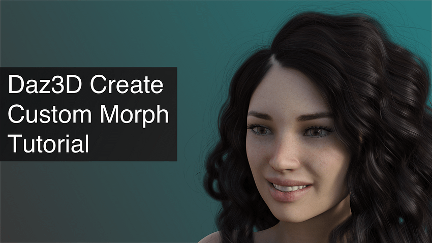 Daz3D Create Custom Morph Tutorial