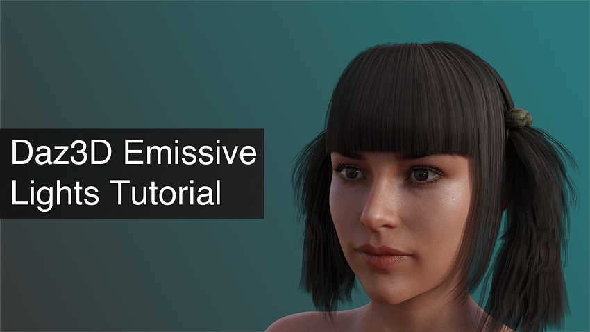 Daz3D Emissive Lights Tutorial