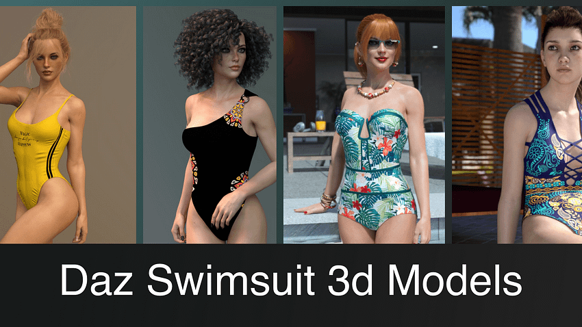 Top Daz3D Swimsuit 3D Models