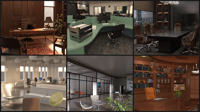 best office 3d models