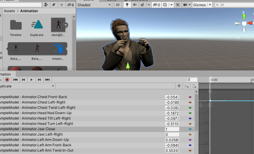 final daz3d to unity figure animated