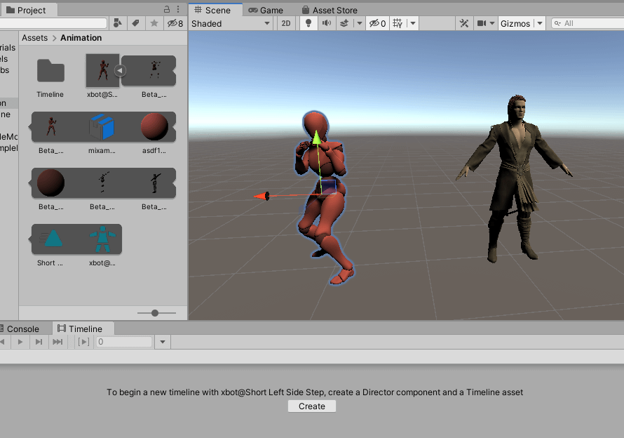 Maximo animation inside unity on a daz character